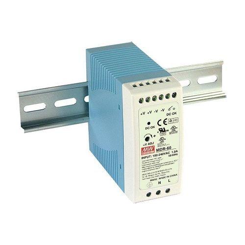 Accesoriu supraveghere Mean Well MDR-60-24 Sursa de alimentare 24V DC, 2.5A, 60W, sina DIN