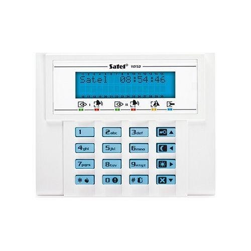 Tastatura alarma Satel VERSA-LCD-BL, LCD, iluminare albastra, compatibila VERSA