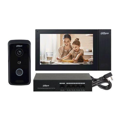 Kit Videointerfon Dahua KTP02 IP, 1 familie, IC card, PoE, SIP