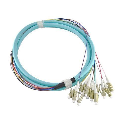 Accesoriu retelistica PXW Pigtail fibra optica 1m, 12 conectori LC, 10G, MM