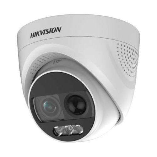 Camera de supraveghere Hikvision DS-2CE72DFT-PIRXOF28 Dome Turbo HD 4-in-1, ColorVu 2MP CMOS, 2.8mm, detectie PIR, alarma audio si flash, IP67