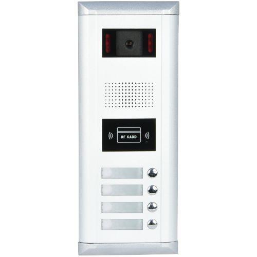 Post exterior videointerfon V-tech DMR11/ID/S4, 4 apartamente, cu cititor de cartele ID