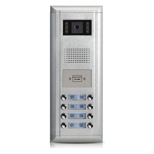 Post exterior videointerfon V-tech DMR11/ID/S8, 8 apartamente, cu cititor de cartele ID