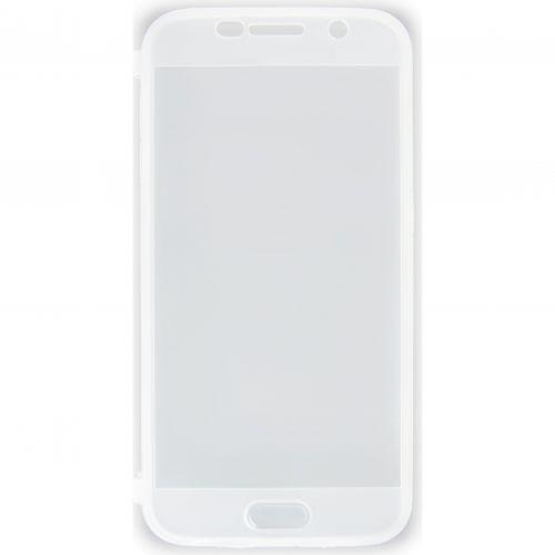 Husa Silicon Flip Cover pentru Samsung Galaxy S5, Transparent
