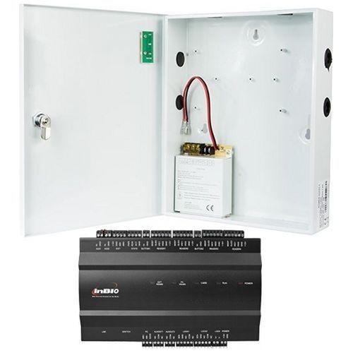 Kit Control Acces ZKAccess inBio-260, Centrala Biometrica IP, 2 usi bidirectionale, suporta 4 cititoare + Cutie cu sursa de alimentare