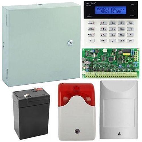 Kit antiefractie Secolink PAS808M+K1, Centrala efractie 8 zone + tastatura + cutie + acumulator + detector de miscare + sirena interior