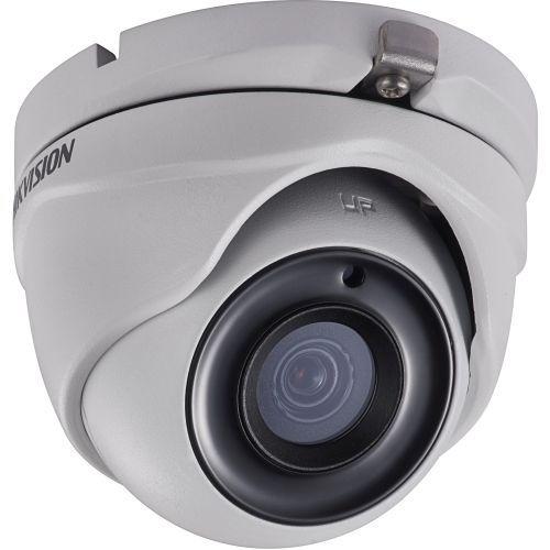 Camera Supraveghere Analogica Hikvision DS-2CE56D7T-ITM, TVI, Dome, 2MP, 2.8mm, EXIR 1 LED Array, IR 20m, WDR 120dB, Rating IP66, Carcasa metal, UTC