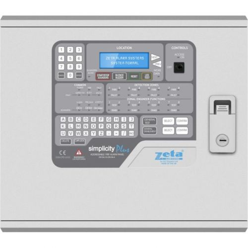 Centrala adresabila Zeta Simplicity Plus, 1 bucla, 8 zone, 126 adrese