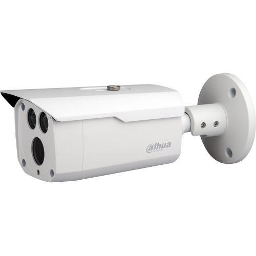 Camera Analogica Dahua HAC-HFW1200D, HD-CVI, Bullet, 2MP, 3.6mm, EXIR 2 LED Arrays, IR 80m, D-WDR, Rating IP67, Carcasa aluminiu