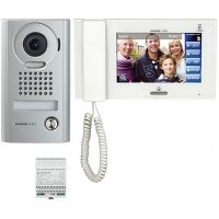 Kit Videointerfon Aiphone JPS-4AEDV, Post exterior JP-DV + Monitor Touch JP-4MED + Alimentare PS-2420UL