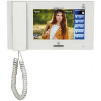 Monitor videointerfon Aiphone JP-4MED, Ecran LCD color 7 inch, Touchscreen, Receptor [Monitor principal]