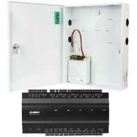 Kit Control Acces ZKAccess inBio-460, Centrala Biometrica IP, 4 usi bidirectionale,  suporta 4 cititoare + Cutie cu sursa de alimentare