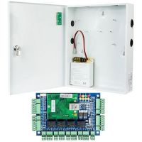 Kit Control Acces Viontech VI-L04KIT, Centrala acces IP 4 usi  unidirectionale + Cutie cu sursa de alimentare