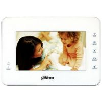 Monitor videointerfon Dahua VTH1560BW, LCD 7 inch, 5 butoane touchscreen, Alb