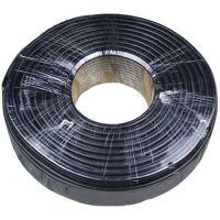 Cablu coaxial RG6 SAT, 75 Ohm, Cupru-Cupru, Rola 100m (Negru/Verde)