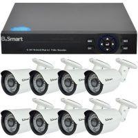 D1-308.P, TVI, HD 720p, 8 camere Bullet UB-503, Exterior
