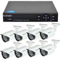D1-408, 4-in-1, Full HD 1080p, 8 camere Bullet UB-423, Exterior