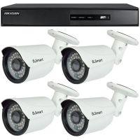 DS-7204HGHI-SH, TVI, HD 720p, 4 camere Bullet U.Smart UB-503