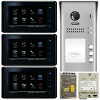 Kit Videointerfon V-tech DT27S3, doua fire,  pentru trei familii