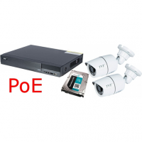 TD-3204H1-4P-C + 2 Camere Bullet TD-9441E2 + HDD 3TB, Conectare POE, KIT Statii ITP