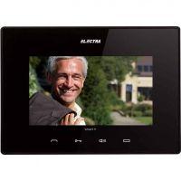 Monitor videointerfon Electra Touch Line Extra, Ecran LCD 7'', 4 fire, Memorie 100 fotografii, Negru