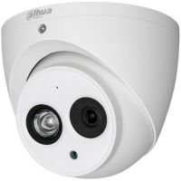 Camera de supraveghere HAC-HDW1200EMP-A, HD-CVI, Dome, 2MP 1080p, CMOS 1/2.7'', 2.8mm, 1 LED Array, IR 50m, IP67, Microfon, Carcasa metal