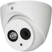 HAC-HDW1100EM-A-S3, HD-CVI, Dome, 1MP 720p, CMOS 1/3'', 2.8mm, 1 LED Array, IR 50m, IP67, Microfon, Carcasa metal