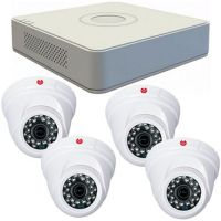 DS-7104HGHI-F1, 4x Dome GDTOF12, 4-in-1, 1MP 720P, Interior, 2.8mm