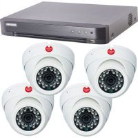 DS-7204HQHI-K1, 4x Dome GD42F2M, 4-in-1, 2MP 1080P, Interior, 3.6mm
