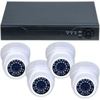 DVR GHD-1041TLMV3.P + 4 camere dome interior 1MP