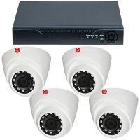 DVR GVAHD4-5MPV4P + 4 camere dome interior 4MP
