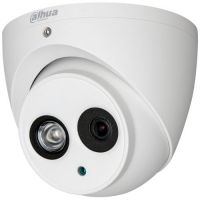 Camera de supraveghere HAC-HDW1200EM-POC, HD-CVI, Dome, 2MP 1080p, CMOS 1/2.7'', 2.8mm, 1 LED Array, IR 50m, IP67, PoC, Carcasa metal