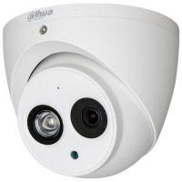 Camera de supraveghere HAC-HDW1400EM-A, HD-CVI, Dome, 4MP, CMOS 1/3'', 2.8mm, 1 LED Array, IR 50m, IP67, Microfon, Carcasa metal
