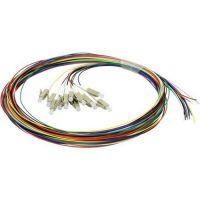 Accesoriu retelistica Pigtail fibra optica 1m, 12 conectori LC, 40G, MM