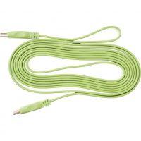 Lungime 1.5m, HDMI 1.4, Flat, Conectori auriti, Verde