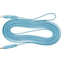 Lungime 3m, HDMI 1.4, Flat, Conectori auriti, Albastru