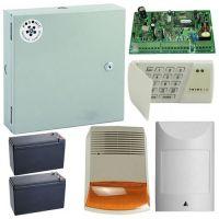 Kit antiefractie Posonic EX-10EXT-LED 700, Centrala alarma + cutie + acumulator + tastatura + senzor miscare + sirena exterior
